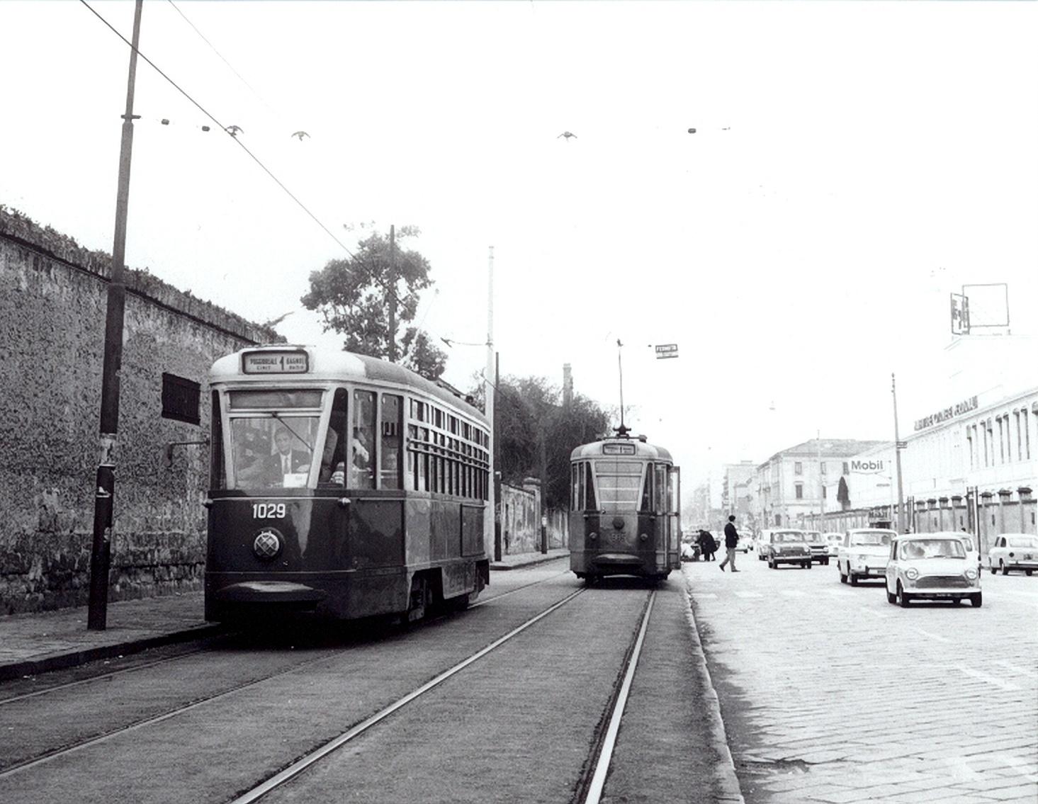 Napoli, via Nuova Poggioreale e tram
