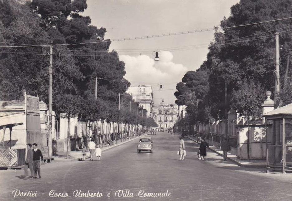 Portici, corso Umberto e Villa Comunale
