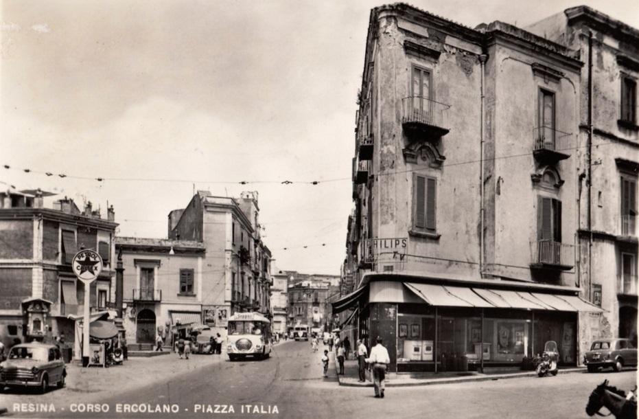 Resina, Corso Ercolano e Piazza Italia