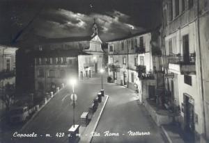 Caposele, Via Roma notturno